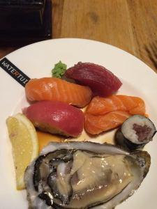 Sushi en oester