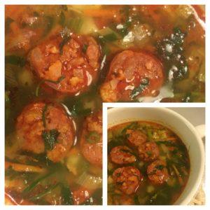 groentesoep met chorizo