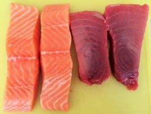 verse tonijn en zalm